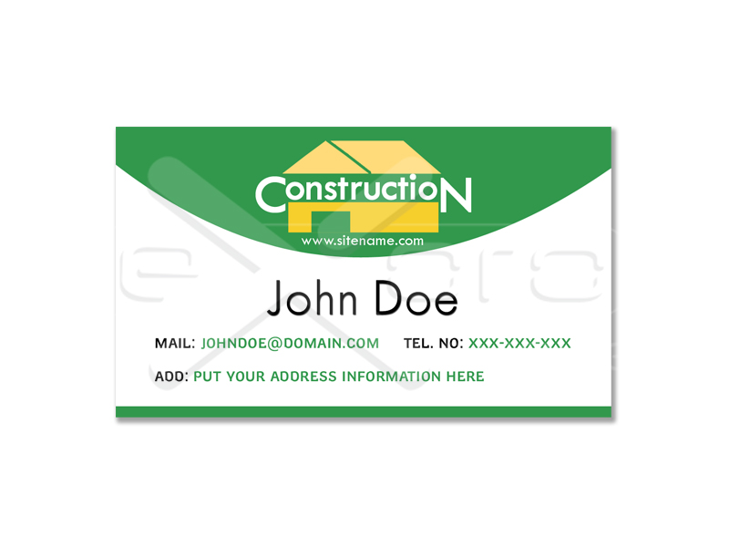Business Card Construction Company