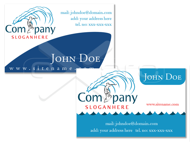 Business Card Surfing Shop