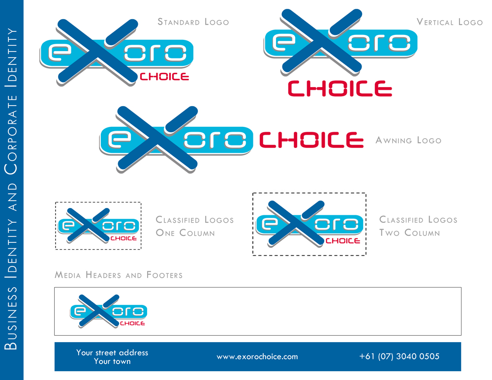 Exoro Choice Logo Designs