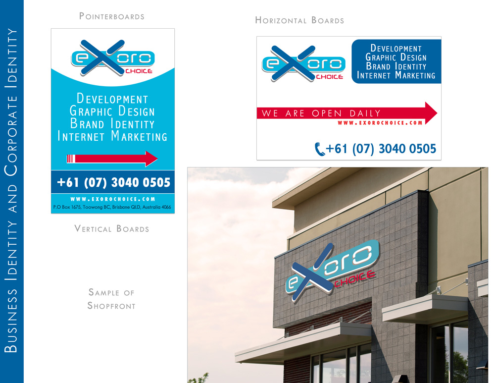Pointerboards and Shop Front design