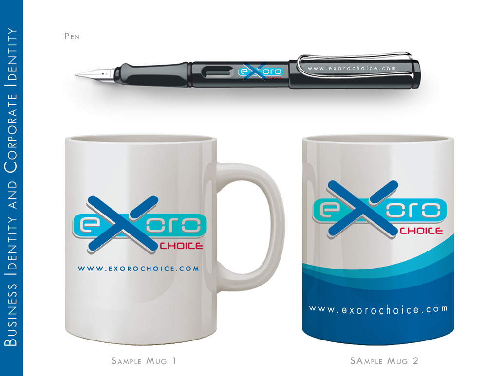 Brand Identity Pen and Mug Design