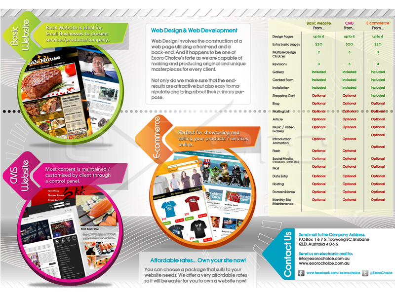 Exoro Choice Poster Design Website Packages